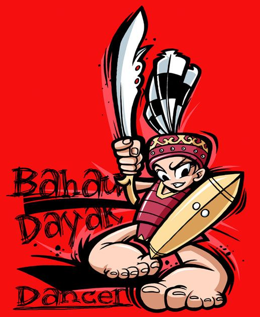 """Bahau Dayak Dancer"" by widjana/deviantart"