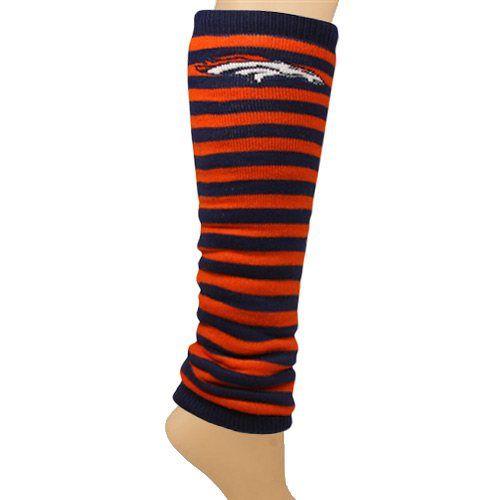 Denver Broncos Ladies Team Stripes Leg Warmers - Navy Blue/Orange