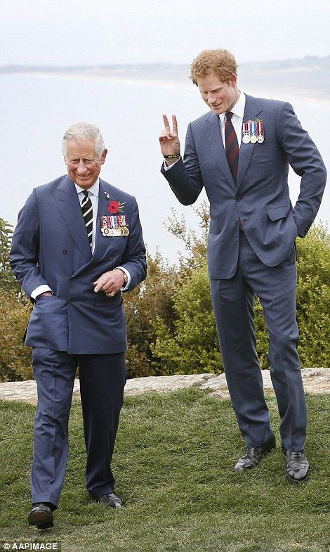 The princes, pictured at the Nek Cemetery on the Gallipoli Peninsula, Turkey, have been attending commemorative events for the last two days