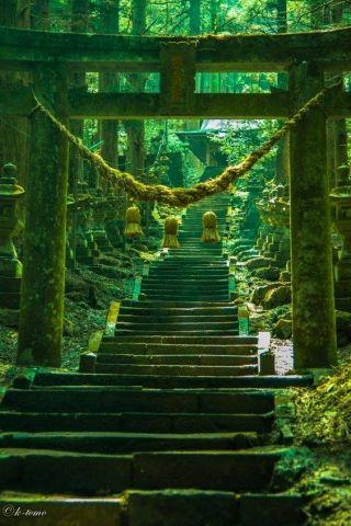 "The ""Torii"" gate of Kami-shikimi Kumano-imasu Shrine, Kumamoto Japan 熊本県 上色見熊野座神社"