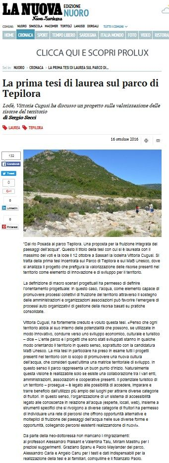La Nuova Sardegna, 16 ottobre 2016 #studentiAaA #DADU