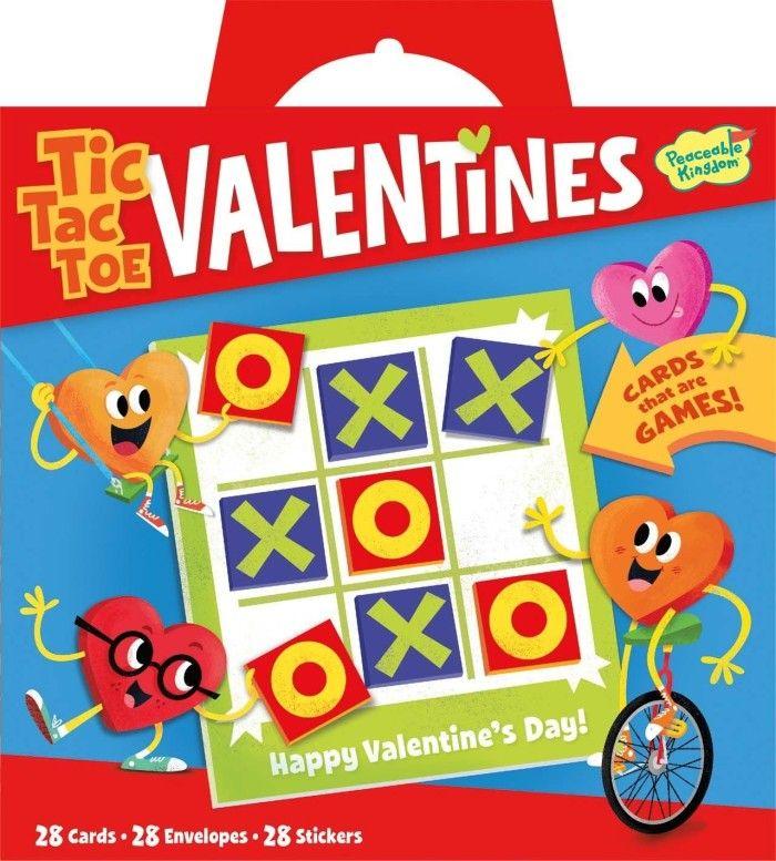 Peaceable Kingdom Valentine Tic Tac Toe Super Valentines Card Pack