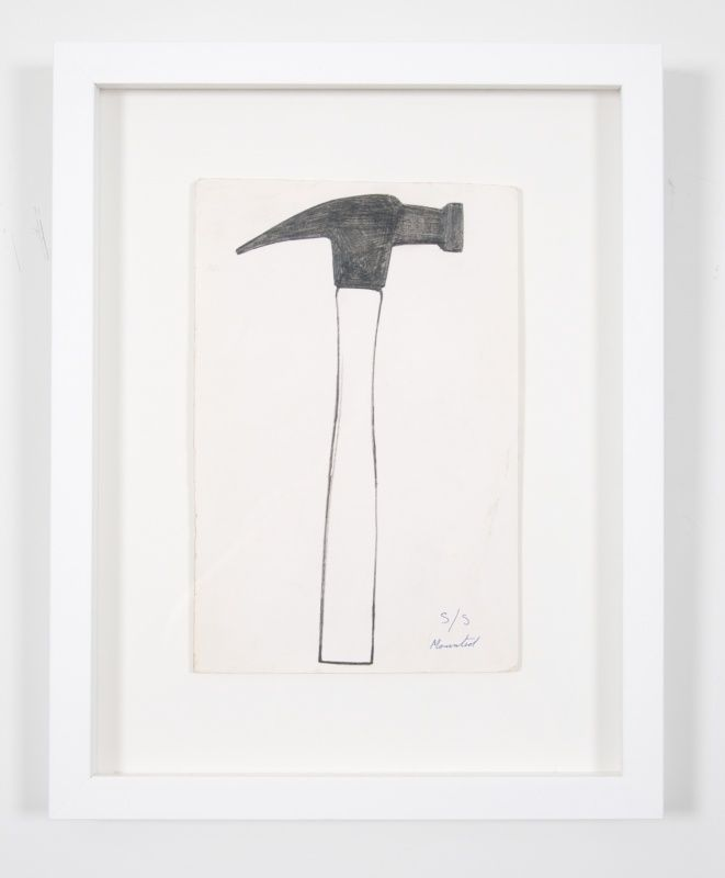 Jim Dine hammer drawing from 54 items from 60 Chester Square