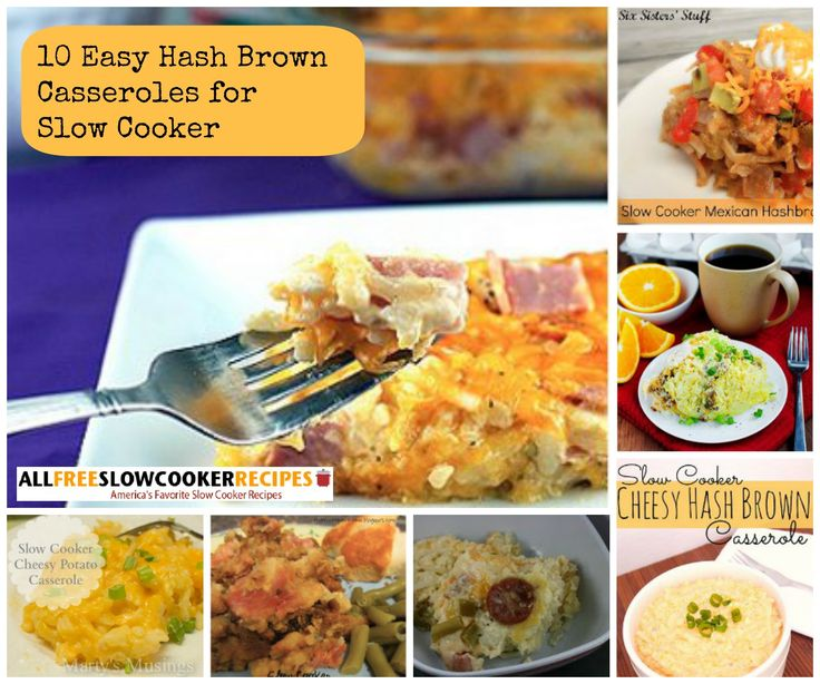 Cook up the best hash brown casseroles using your slow cooker with this delicious collection of 10 Easy Hash Brown Casseroles. In our collection of simple slow cooker potato casseroles, you'll find a variety of hash brown casserole recipes to try, including cheesy hash brown casseroles, hash brown breakfast casseroles, and more.