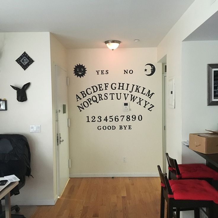 Homemade ouija board wall decoration