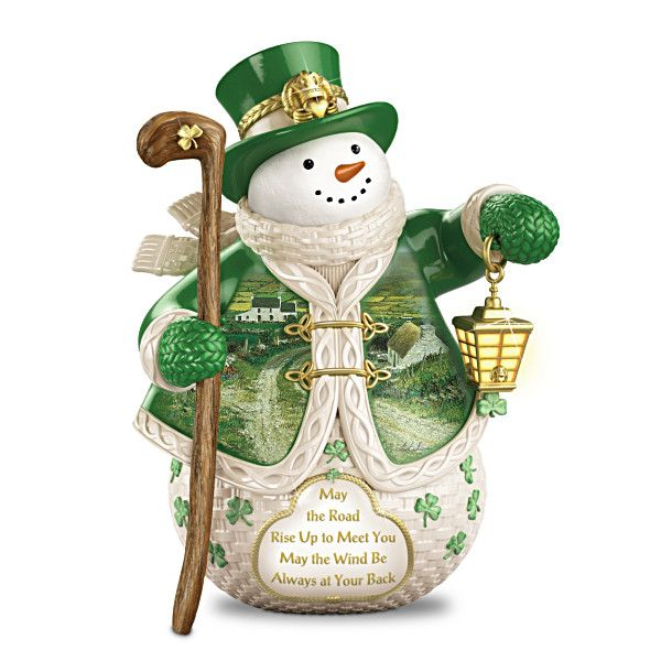 When Irish Eyes Are Smiling Snowman Figurine