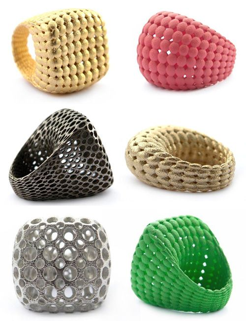 3D Printed Art. love these rings!!