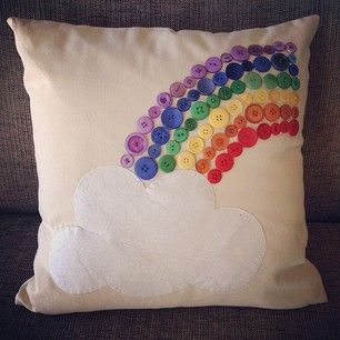 Cloud and Rainbow Cushion...  Evokes brightness and happiness!