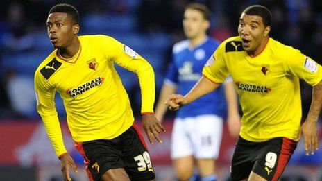 Watford's Nathaniel Chalobah and the legend Troy Deeney!