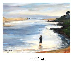 Beth Lowe's Last Cast - original oil painting.