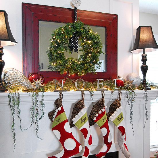 Tree Of Life Fireplace Surround: 95 Best Christmas Mantel Inspiration Images On Pinterest