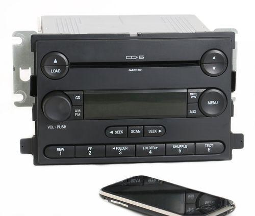 Ford Focus 2006-07 Radio AM FM 6 Disc CD Player w Bluetooth Music 6S4T-18C815-AD