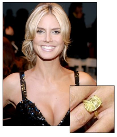 Heidi Klum's Fancy Canary Diamond Read More : http://www.benmadiamonds.com/Heidi_Klums_fancy_canary_diamond