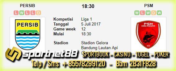 Prediksi Skor Bola Persib vs PSM 5 Jul 2017 Liga 1 di Stadion Gelora Bandung Lautan Api (Bandung) pada hari Rabu jam 18:30 live di TV One