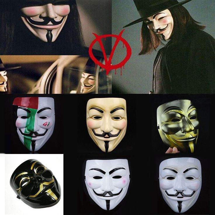 Cosplay Mask V For Vendetta Mask Anonymous Movie Guy Fawkes Halloween Masquerade Party Face March Protest Costume Accessory #clothing,#shoes,#jewelry,#women,#men,#hats,#watches,#belts,#fashion,#style