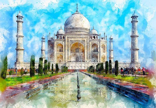Free Image On Pixabay Taj Mahal Monument Marble Art