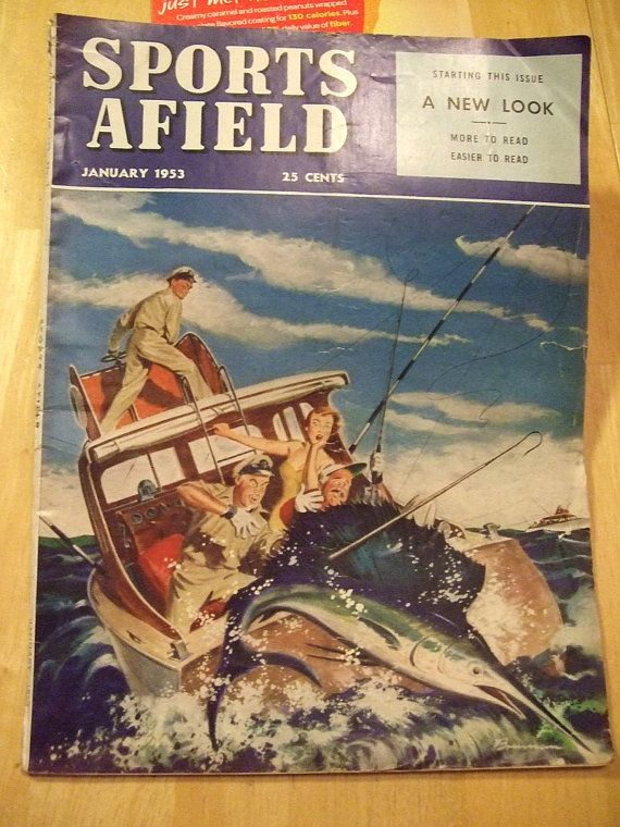 Vintage 1953 january sports afield hunting fishing outdoor for Hunting and fishing magazine