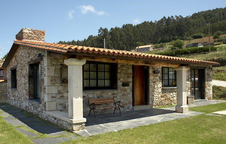 Fachadas de casas de un solo piso google search - Planos de casas de campo rusticas ...