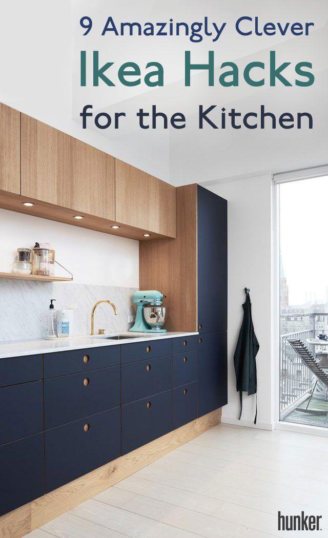 9 Amazingly Clever Ikea Hacks For The Kitchen Hunker Interior Design Kitchen Diy Kitchen New Kitchen Cabinets