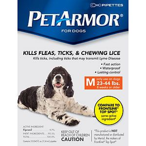 Pet Armor Flea ,Ticks,and Chewing Lice  Topical For Dogs 23-44lb/3 Ct  #PetArmor
