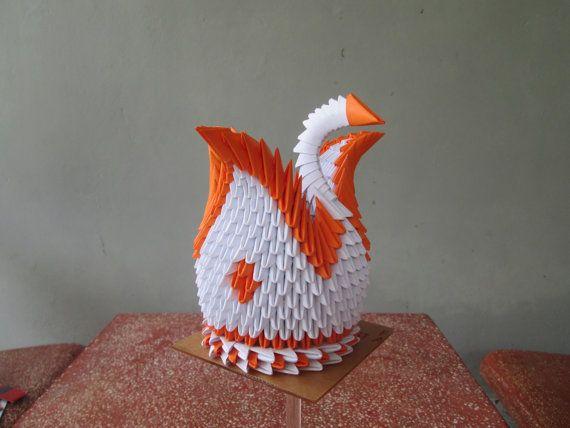 3D origami cisne solo por usd 850