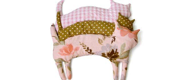 Come fare un cuscino con i noccioli di ciliegia a forma di gatto - Tutorial