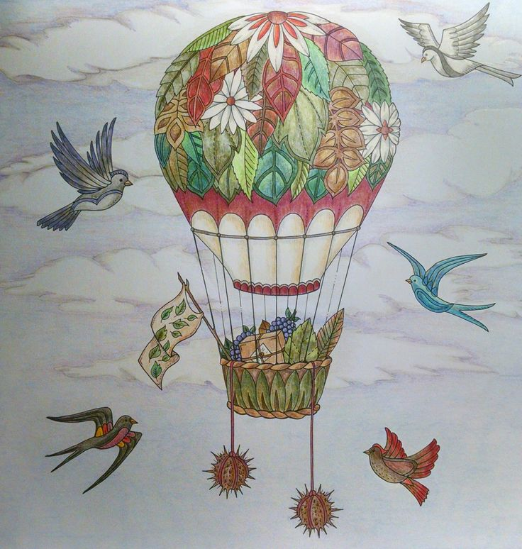 Johanna Basford Enchanted Forest Balloon By Wendy