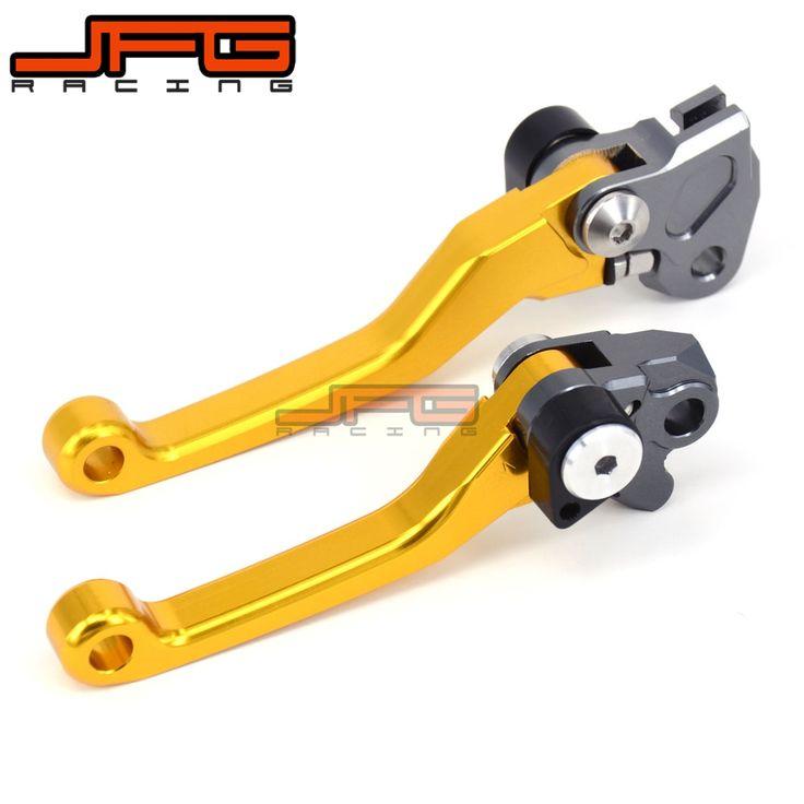 22.49$  Buy now - http://aliphi.shopchina.info/1/go.php?t=32698976487 - CNC Pivot Foldable Clutch Brake Lever For  RMZ250 RMZ250 07-16 RMZ450 05-16 gold Supermoto Enduro Dirt Bike Off Road  #magazine