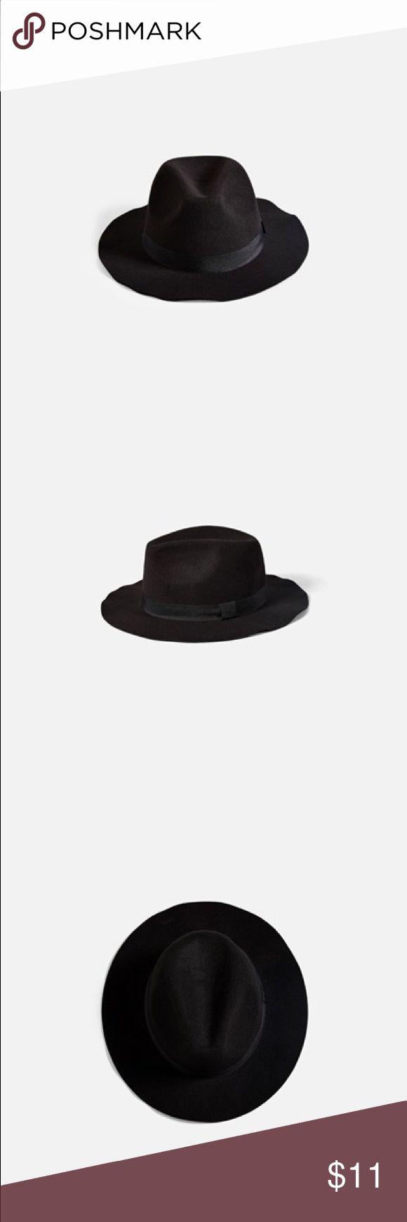 Black Fedora Hat Black Fedora Hat from BikBok. Onesize. BikBok Accessories Hats