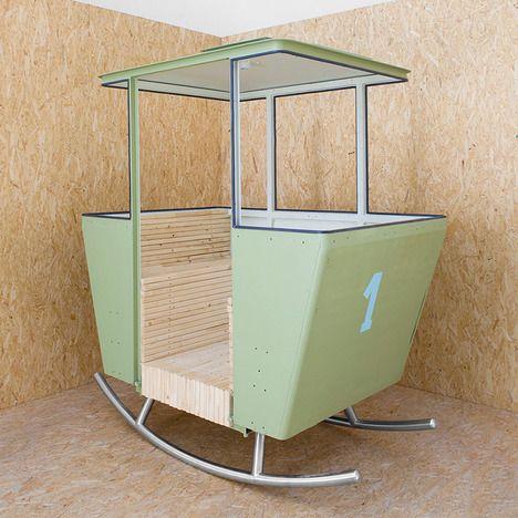 Converted cable car. Rock garden chair by Adrien Rovero
