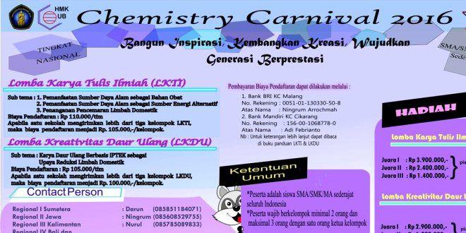 Edupost.id – Himpunan Mahasiswa Kimia Universitas Brawijaya kembali…