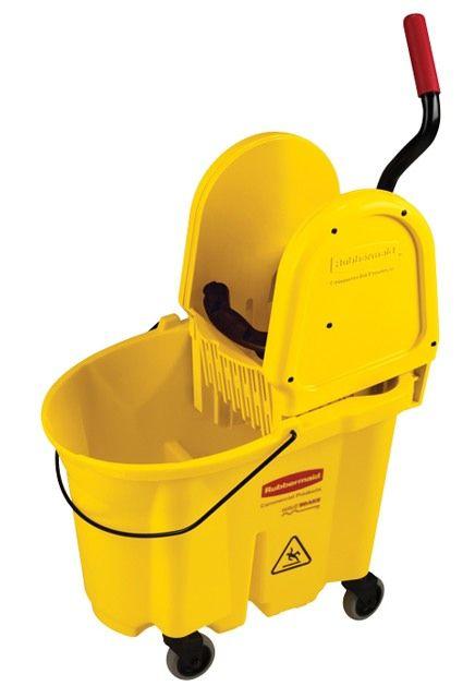 Downpress Wringer Bucket Combo: Mop wringer and bucket down press