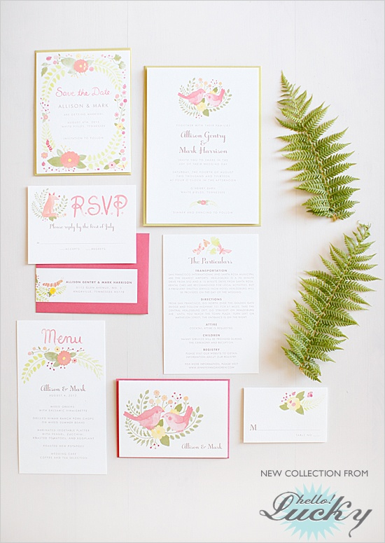 hello!lucky wedding invites