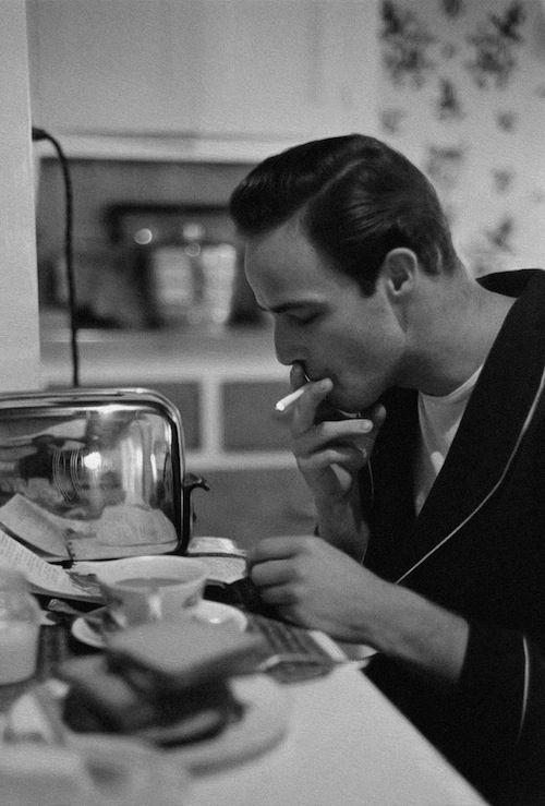 Marlon Brando photographed by Ed Clark, 1949.