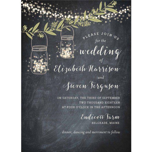 Twinkling Jars Standard Wedding Invitation Walmart Com In 2020 Personalised Wedding Invitations Wedding Invitations Wedding Invitations Rustic