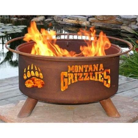 Montana Grizzlies Fire Pit Grill