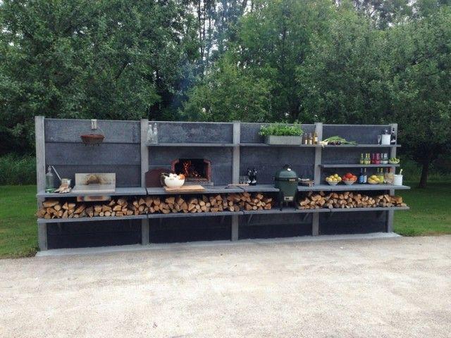 Gartenküche Beton-Regal System-individuelle außenküche-mit grill – Dijana Kljajić