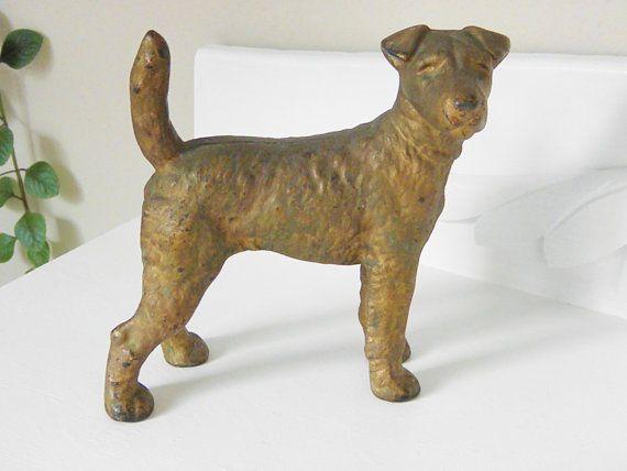 Vintage Cast Iron Hubley Terrier Dog Door Stop via Etsy - 73 Best Cast Iron Door Stops-dogs Images On Pinterest Door Stop