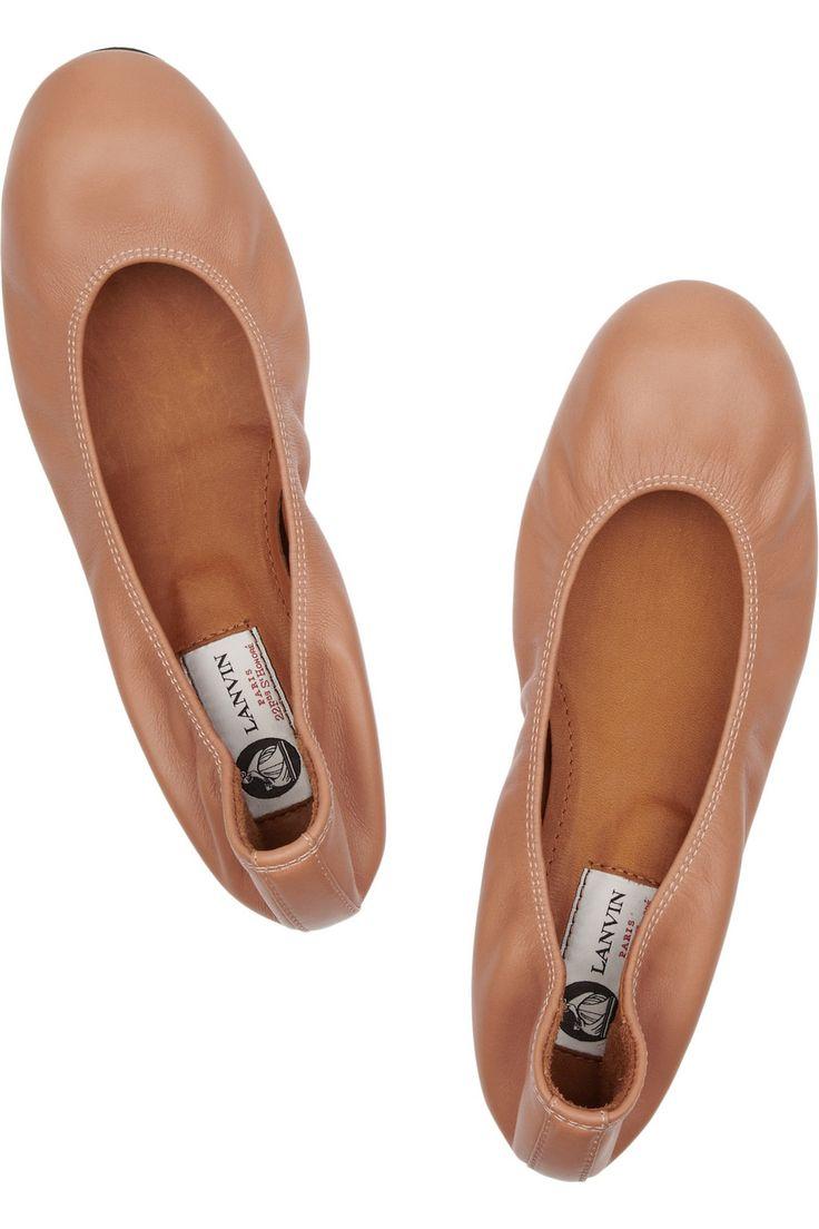 Lanvin|Leather ballet flats|NET-A-PORTER.COM