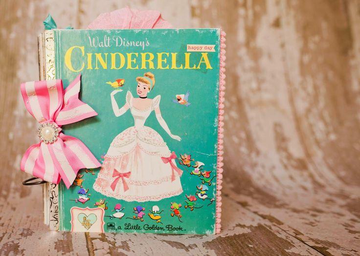 vintage golden book turned scrapbook Lindsay Faye: a little golden book re-do