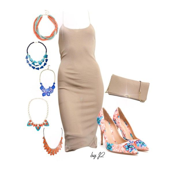 """""""the Nude dress."""" by thesunshinecorner on Polyvore"""