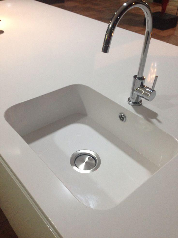 Lavat rio de cozinha integrity silestone branco zeus for Silestone kitchen sinks