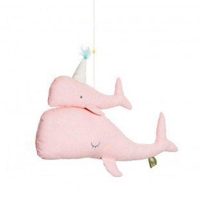 Scalaë Walvis met baby roze mobiel