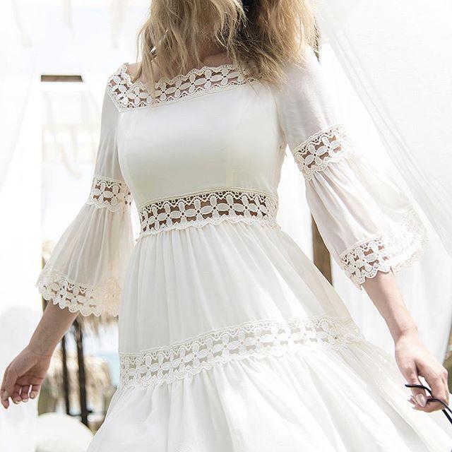 magdalena michalak #white #dress #lace #wind #blonde #girl #summertime #holiday #easy #model #modellife #fashion #moda #butique #butik #beautyful…