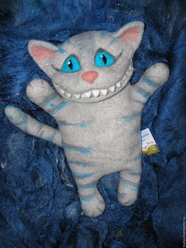 Купить перчаточная кукла Чеширский кот - голубой, чеширский кот, кот, котик, чешир