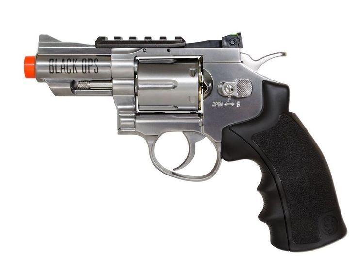 New Black Ops exterminator full metal revolver, 2.5 chrome(Airsoft Gun)-Co2  #BlackOps