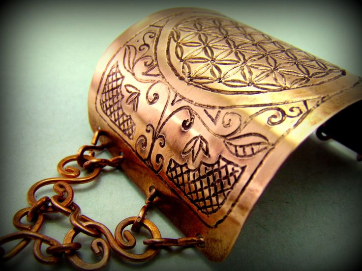 Bratari din cupru gravate manual cu simboluri sacre Romanesti - Hadarugart ...Arta inseamna viata ...