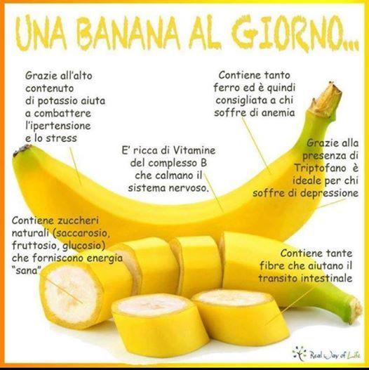 Perchè mangiare una banana al giorno?
