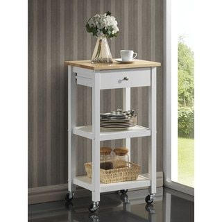 Wood Kitchen Cart on Wheels - Free Shipping Today - Overstock.com - 17882392 - Mobile
