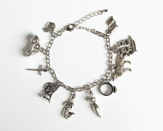 OUAT Characters Charm Bracelet by CissyPixie on Etsy